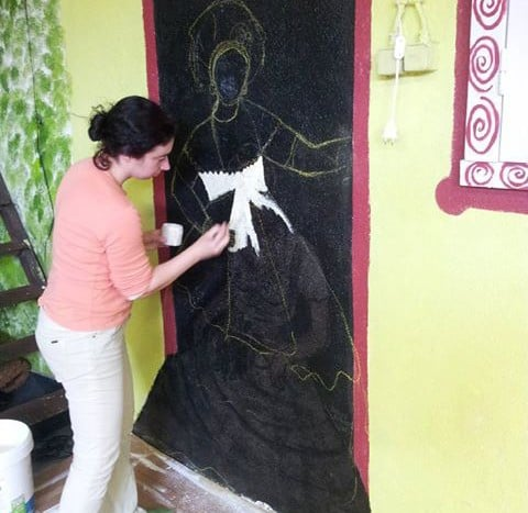 Pintura Mural de cura para Associação Capoeira Alto Astral